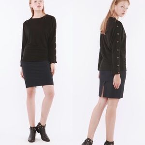 Hye Park and Lune Black Button Design Long Sleeve